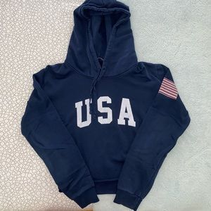 Brandy Melville USA Cropped Hoodie